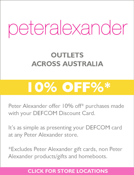 10%  OFF* at Peter Alexander