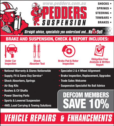 Pedders for automotive work and repairs