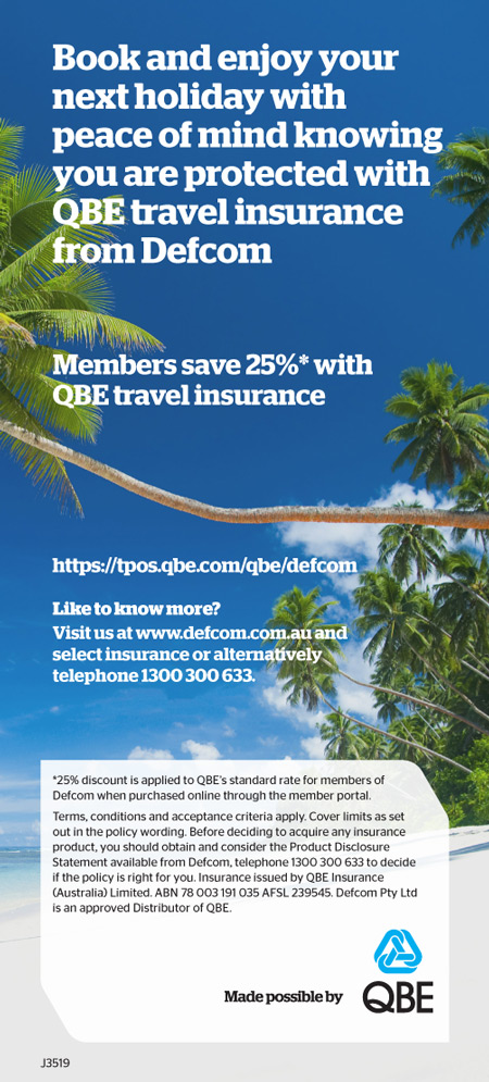 25% off QBE Travel Insurance