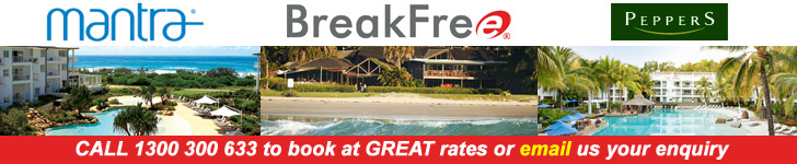 Book BreakFree, Mantra and Peppers accommodation at discounted rates